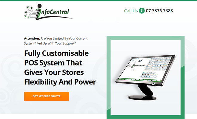 Customisable POS Landing Page