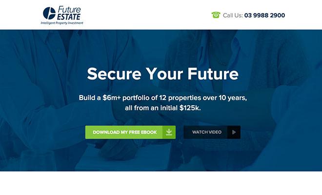 Future Estate Landing Page