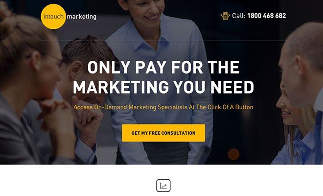 intouch Marketing Landing Page