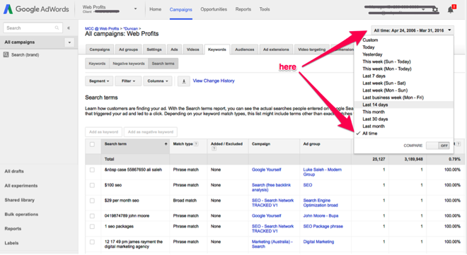Adwords 3 for content ideas