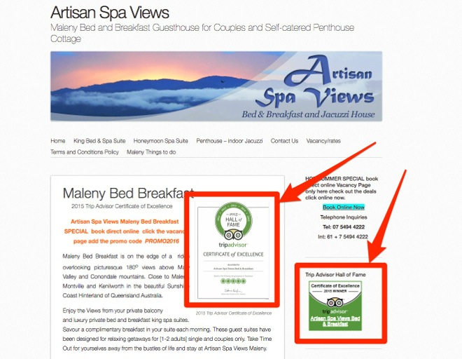 Artisan_Spa_Views - Awards Example of link building tactics - Image 14