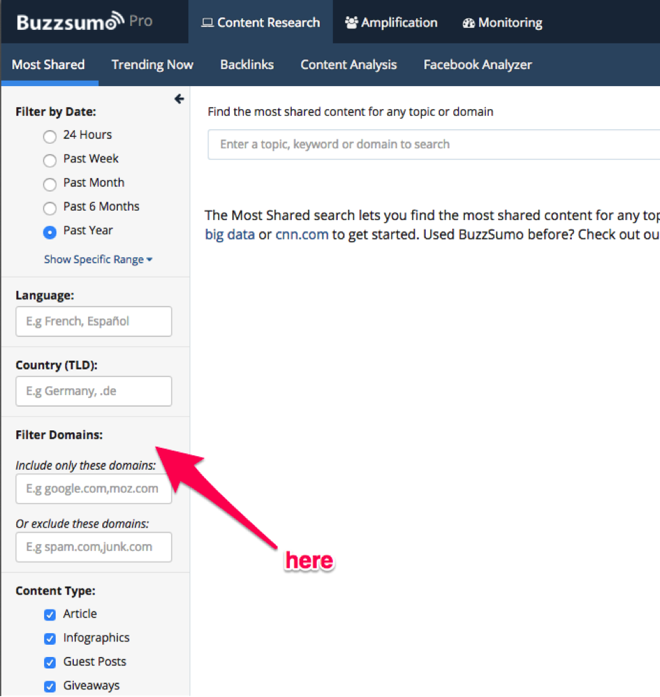 Buzzsumo 5 for content ideas