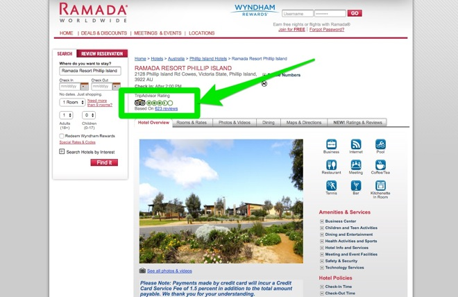Ramada_Resorta - Widgets Example of link building tactics - Image 1