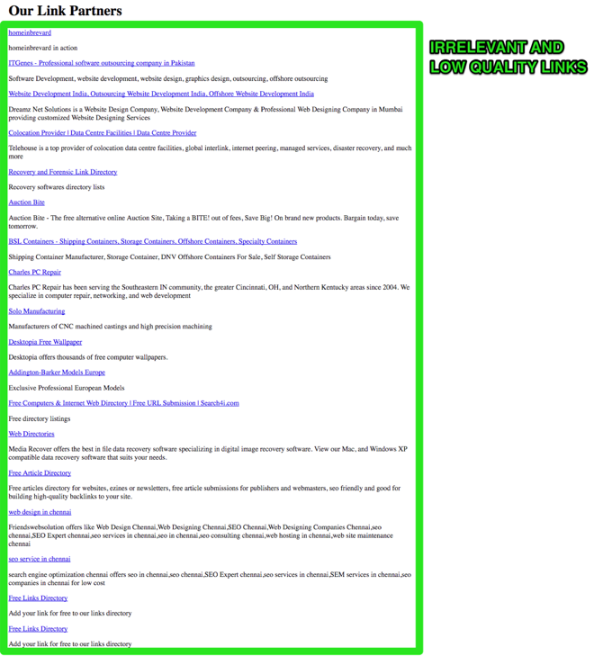 Resource List Example of link building tactics - Image 29