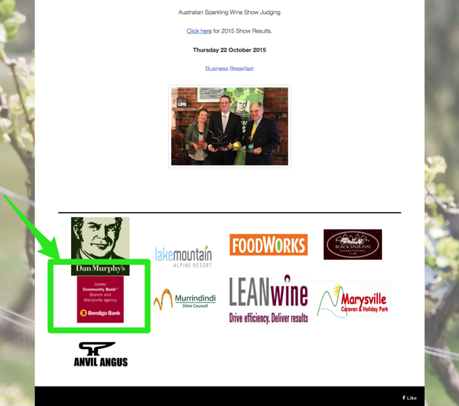 Sponsorships Example of link building tactics - Image 33