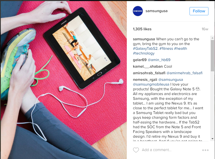 offer examples for Instagram Engagement