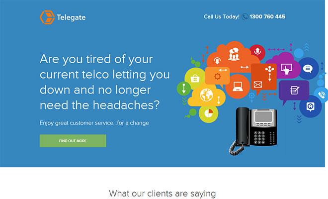 Telegate Landing Page